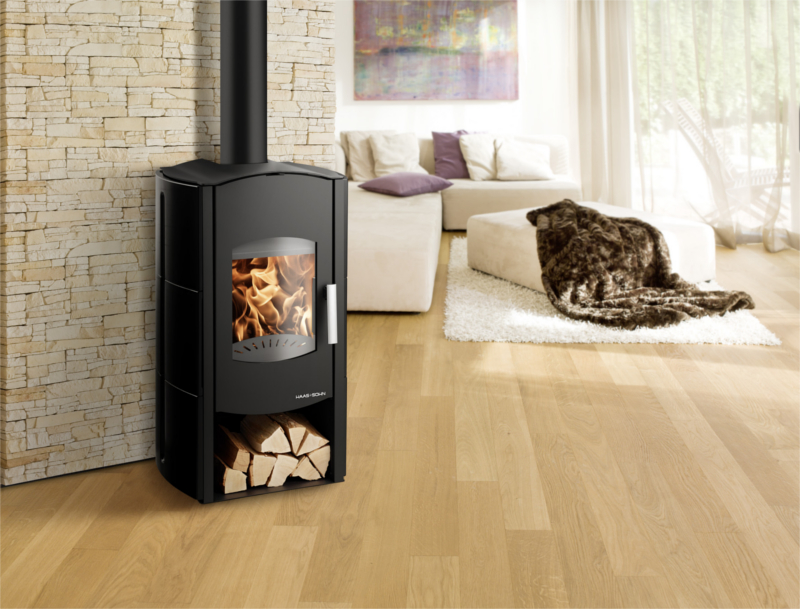 haas sohn kaminofen aquaris mit 10 kw heizleistung. Black Bedroom Furniture Sets. Home Design Ideas