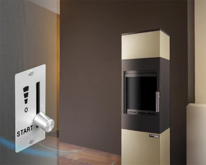 haas sohn kaminofen aruba easy mit 6 kw heizleistung. Black Bedroom Furniture Sets. Home Design Ideas