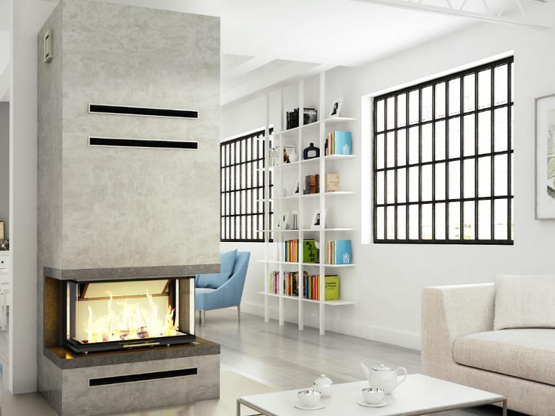 panoramakamin volcano 3bth von hajduk mit 11 kw. Black Bedroom Furniture Sets. Home Design Ideas