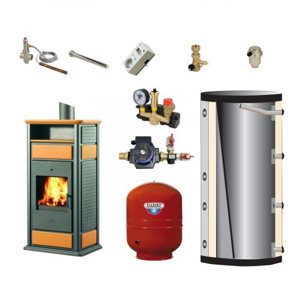 Komplett-Set Warm/CS Keramik bernstein 14 kW+Warmhaltefach
