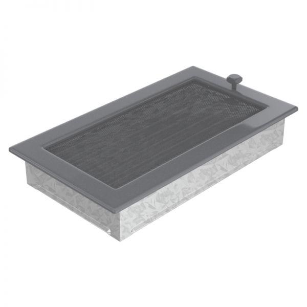 Lamellengitter verstellbar mit Gaze 17x30 cm graphit