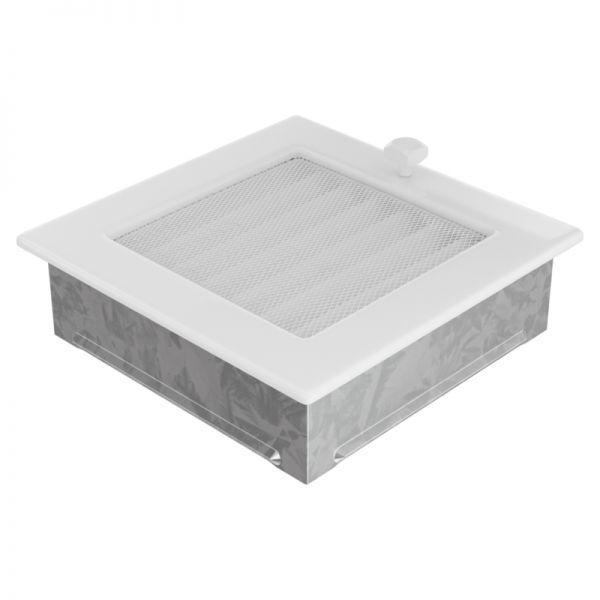 Lamellengitter verstellbar mit Gaze 17x17 cm weiß
