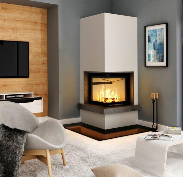 kamineinsatz heizeinsatz eckkamin wasserlos smart 2lth mit. Black Bedroom Furniture Sets. Home Design Ideas