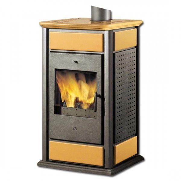 Kaminofen wasserführend Warm/CS Keramik bernstein 14 kW