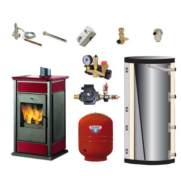 Komplett-Set Warm/CS Keramik bordeaux 14 kW