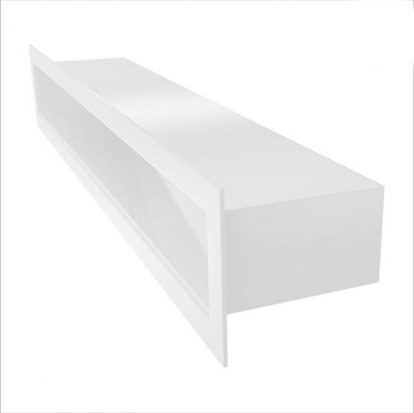 Offene Luftleiste weiß pulverbeschichtet
