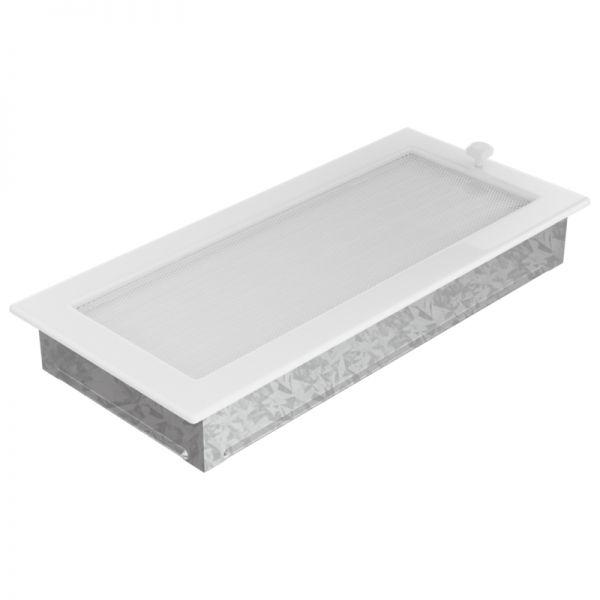 Lamellengitter verstellbar mit Gaze 17x37 cm weiß
