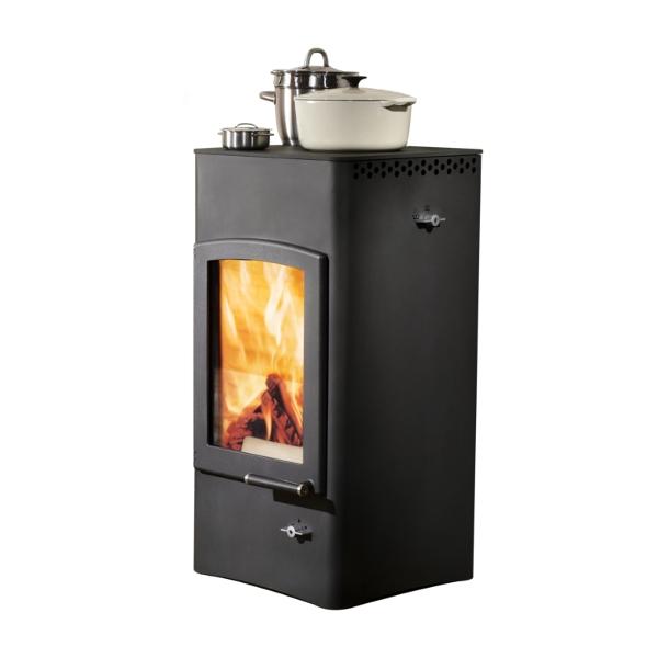 austroflamm lucy cook 6 kw stahl kaminofen. Black Bedroom Furniture Sets. Home Design Ideas