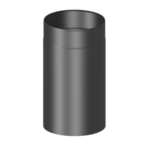 Kaminrohr 330 mm lang Ø120 mm schwarz