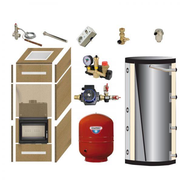 Komplett-Bausatz Aquario MDG 12 kW + Kaminverkleidung