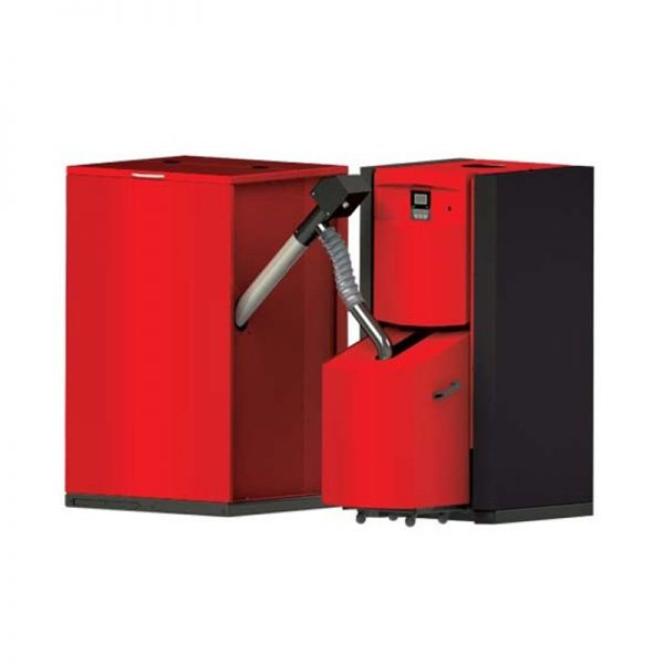 Pelletheizung Pellflux 15 kW inklusive Pelletsilo 500 Liter