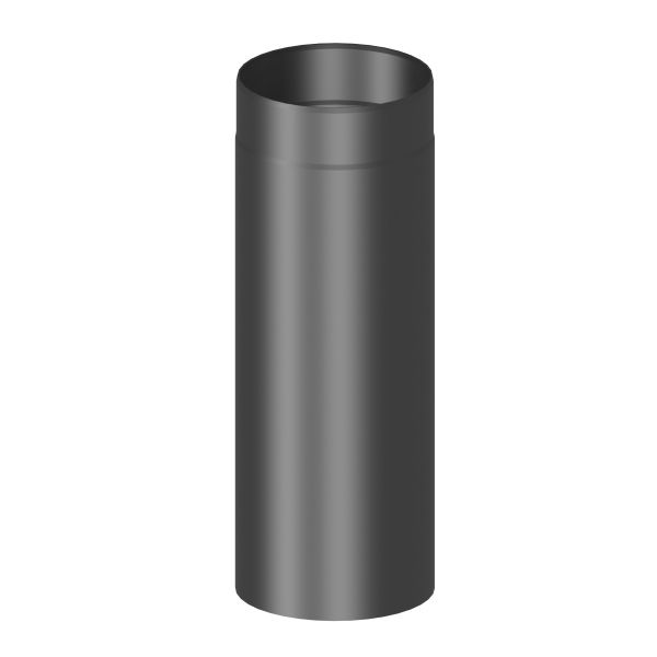 Kaminrohr 500 mm lang Ø180 mm schwarz
