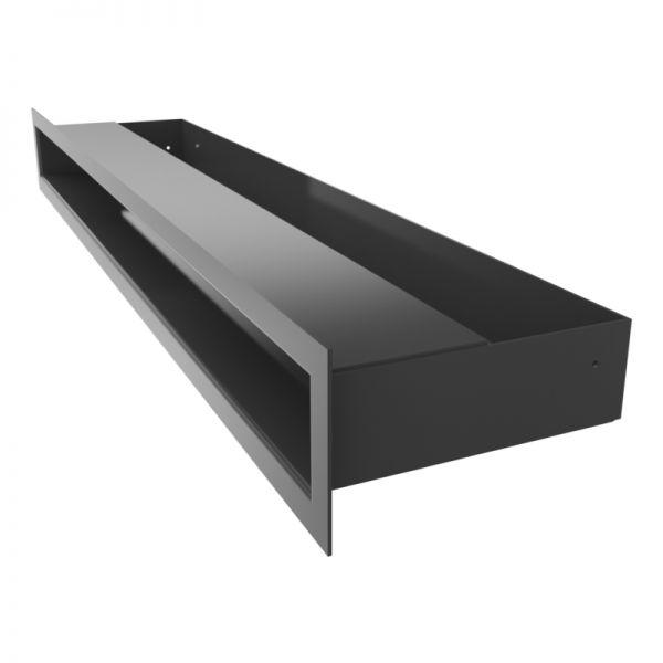 Lüftungsgitter LUFT schwarz 600 x 60 mm