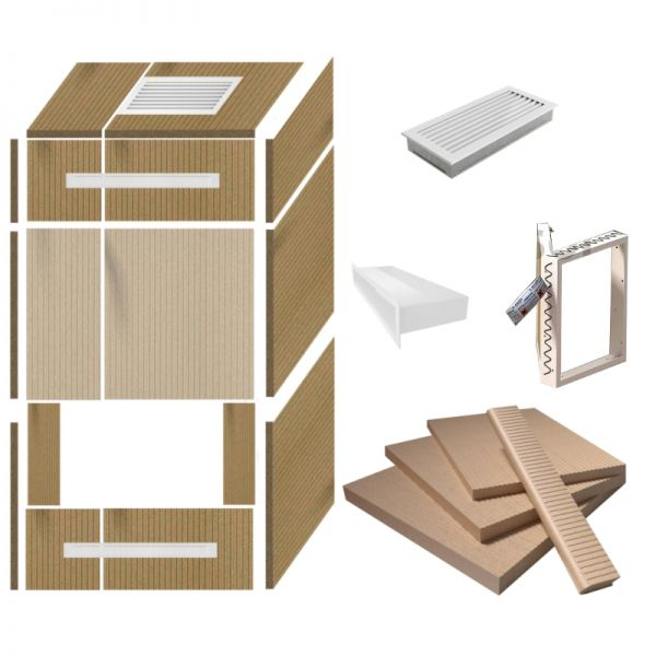 Kaminverkleidung selber bauen Universal-Kaminbausatz 3 w