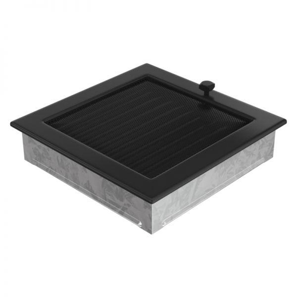 Lamellengitter verstellbar mit Gaze 22x22 cm schwarz