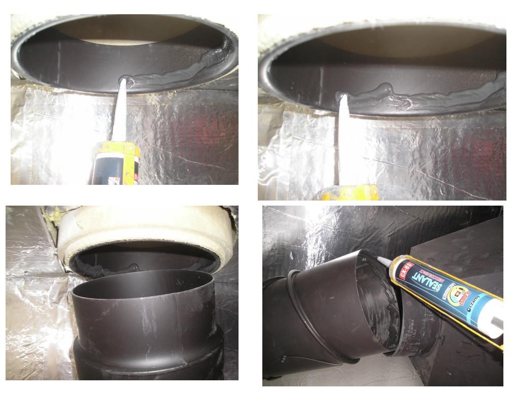 Herstellung des Rauchrohranschlusses HAJDUK Kaminbausatz