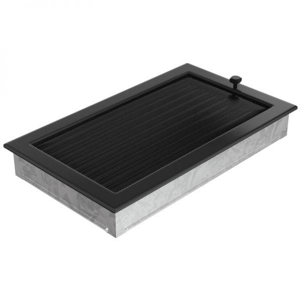 Lamellengitter verstellbar mit Gaze 22x37 cm schwarz