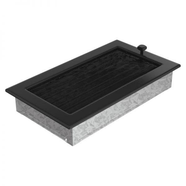 Lamellengitter verstellbar mit Gaze 17x30 cm schwarz
