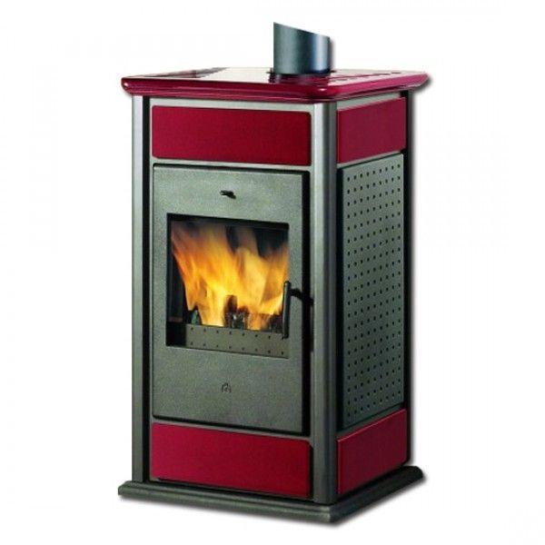 Kaminofen wasserführend Warm/CS Keramik rot 14 kW