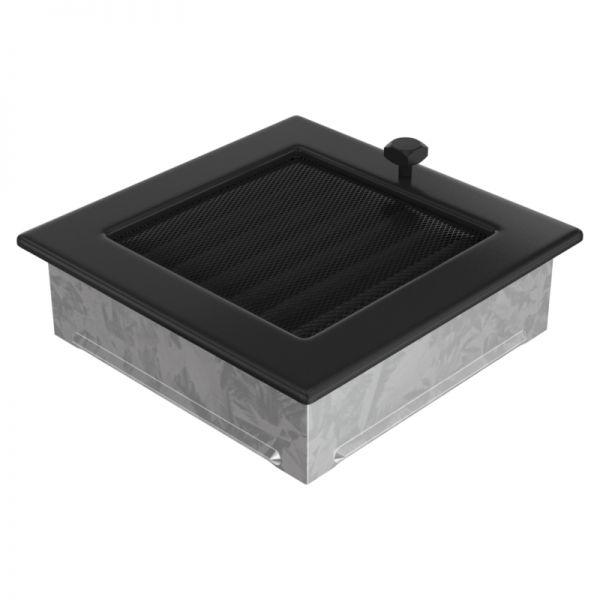 Lamellengitter mit Gaze 17x17 cm schwarz