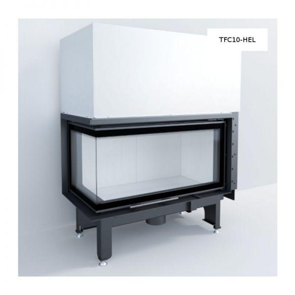 TFC10-HEL Eckkamineinsatz links gewinkelt 10 kW