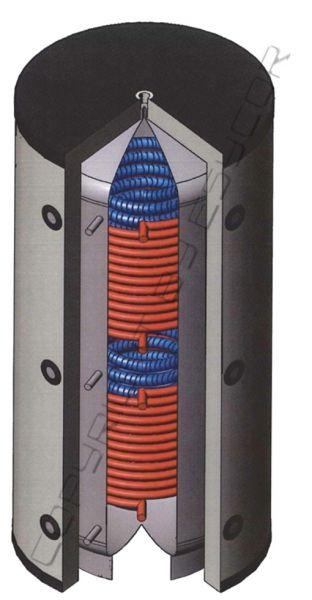 Hygienespeicher mit Edelstahlwärmetauscher + 2x Wärmetauscher