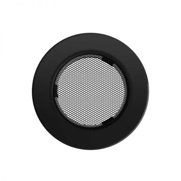 Luftgitter Ø142 mm schwarz