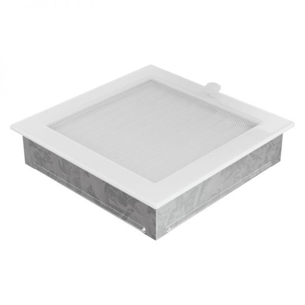 Lamellengitter verstellbar mit Gaze 22x22 cm weiß