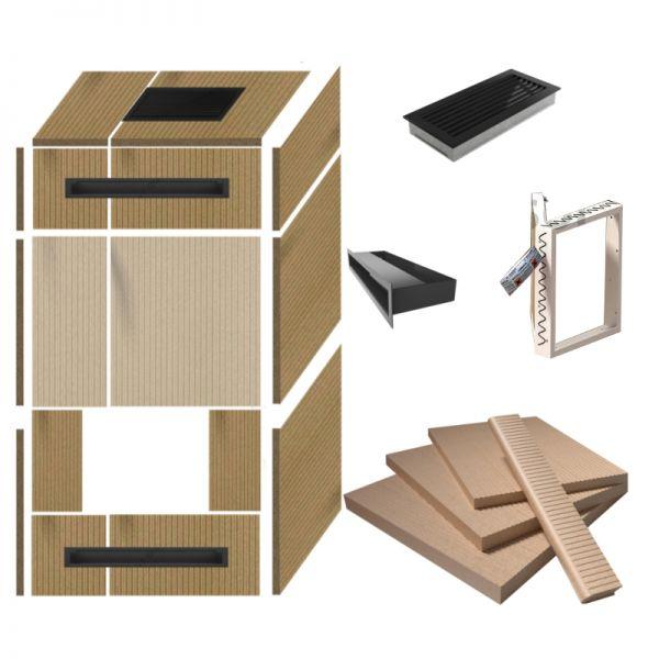 Kaminverkleidung selber bauen Universal-Kaminbausatz 3 s