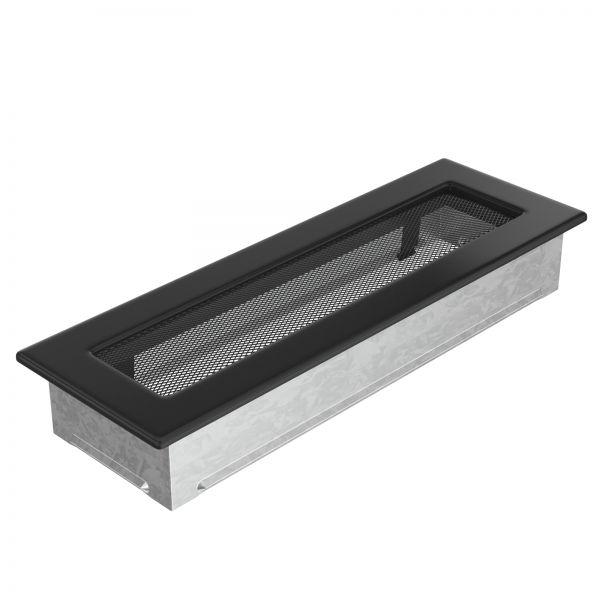 Luftgitter 11x32 cm schwarz