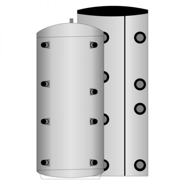 Pufferschichtenspeicher ohne Waermetauscher 110mm Vliesisolierung 300 Liter
