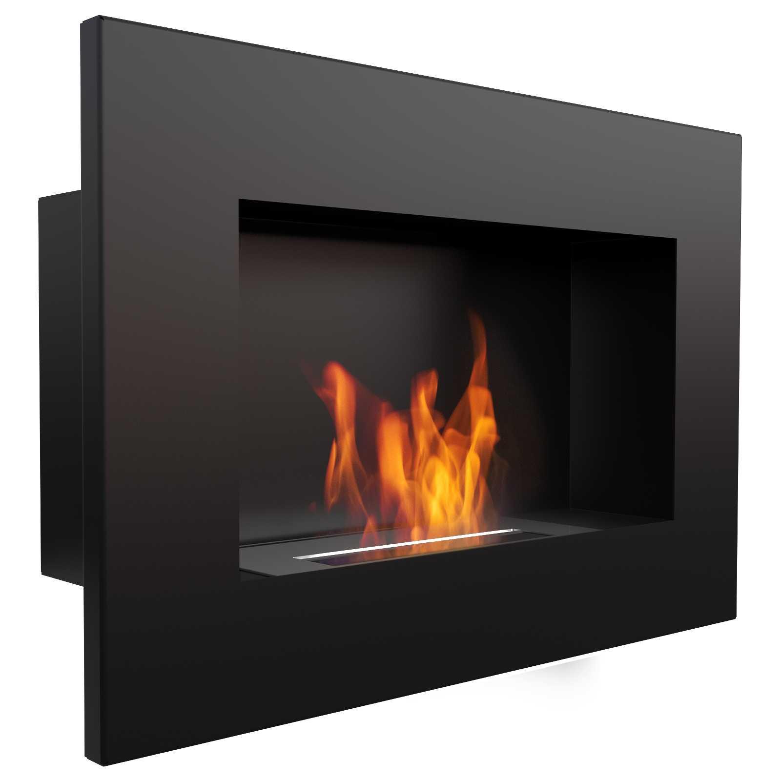 bioethanol wandkamin delta schwarz 1 0 kw 600 mm lang. Black Bedroom Furniture Sets. Home Design Ideas