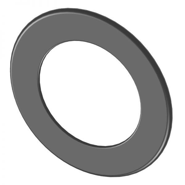 Kaminrohr Rosette 55 mm breit Ø120 mm schwarz