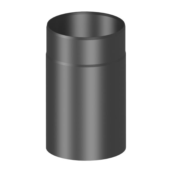 Kaminrohr 250 mm lang Ø120 mm schwarz