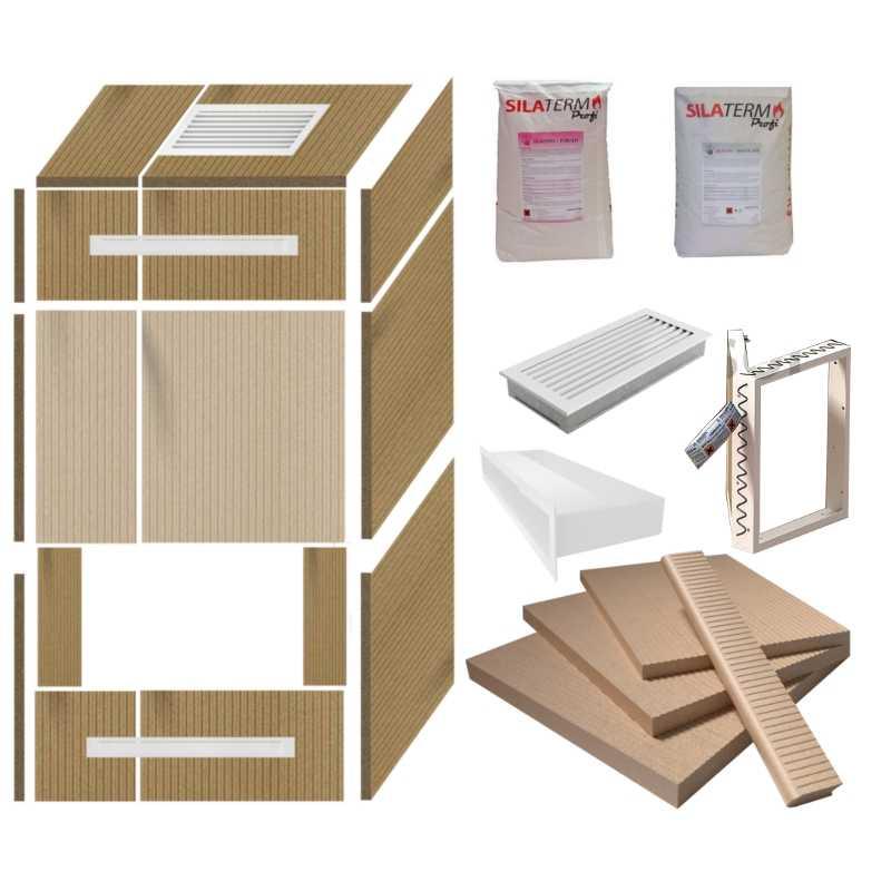 kaminverkleidung selber bauen mit komplett kaminbausatz 2 w luftleisten wei bxtxh 120x64x200. Black Bedroom Furniture Sets. Home Design Ideas