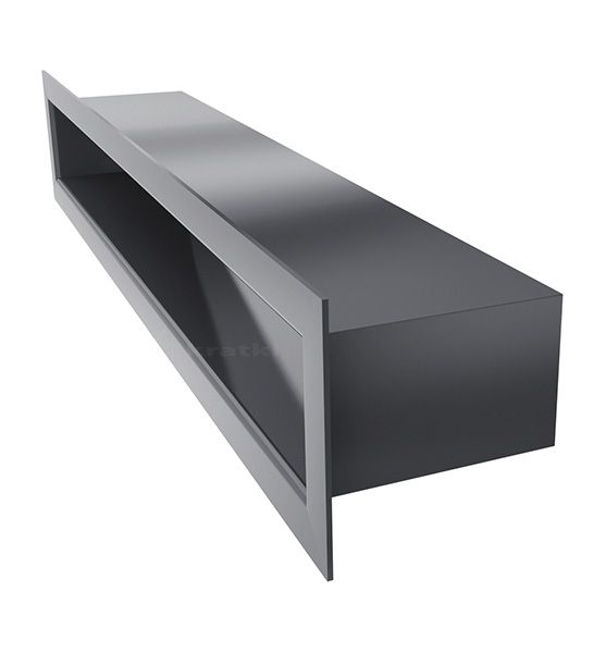 Lüftungsgitter TUNEL graphit 400 x 60 mm