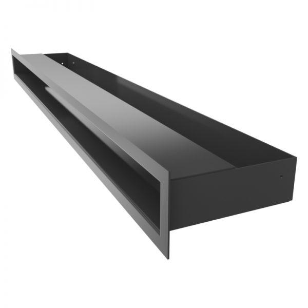 Lüftungsgitter LUFT schwarz 800 x 60 mm