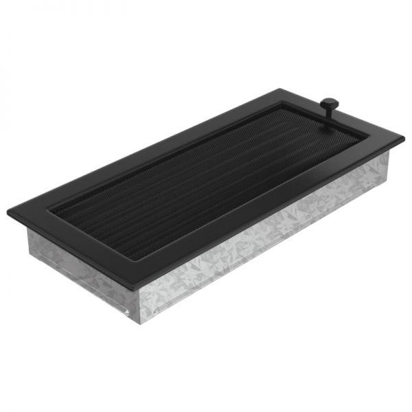 Lamellengitter verstellbar mit Gaze 17x37 cm schwarz
