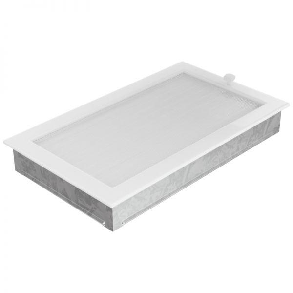Lamellengitter verstellbar mit Gaze 22x37 cm weiß