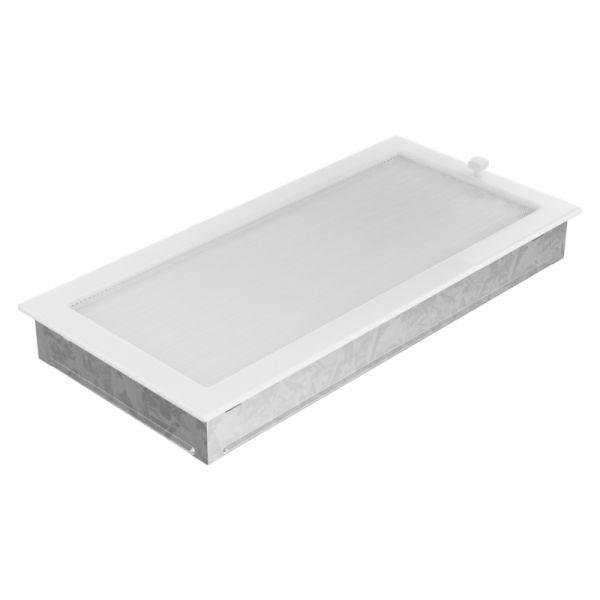 Lamellengitter verstellbar mit Gaze 22x45 cm weiß