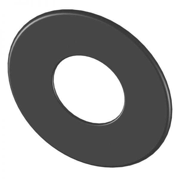 Rosette 85 mm breit Ø120 mm schwarz