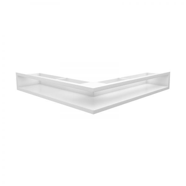 Luftleiste rechtwinklig weiß pulverbeschichtet