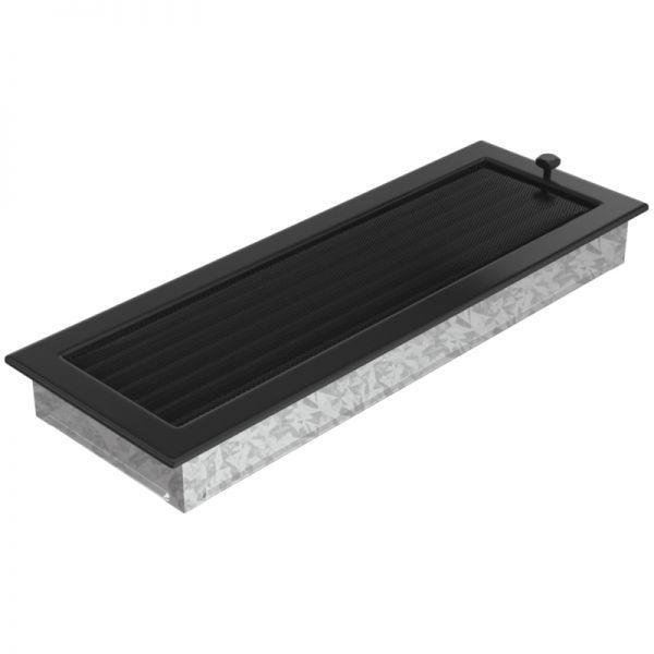 Lamellengitter verstellbar mit Gaze 17x49 cm schwarz