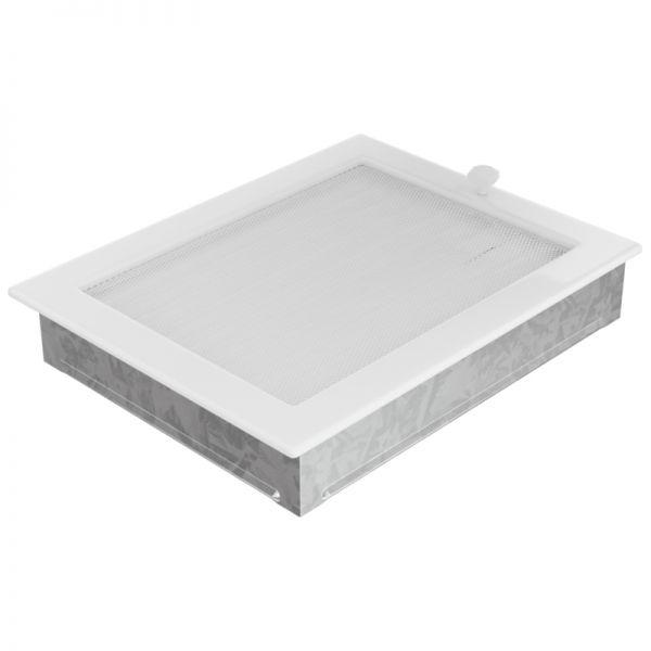 Lamellengitter verstellbar mit Gaze 22x30 cm weiß