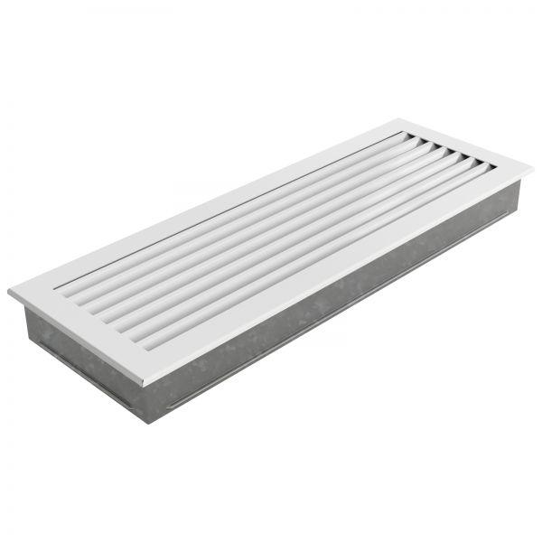 Zuluftgitter 17x49 cm weiß