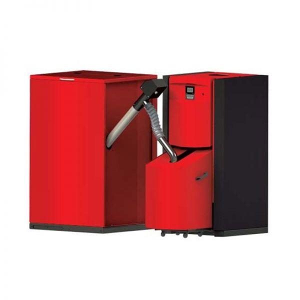 Pelletheizung Pellflux 40 kW inklusive Pelletsilo 500 Liter