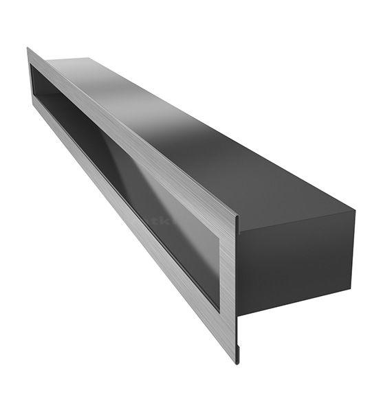 Lüftungsgitter TUNEL Edelstahl 600 x 60 mm