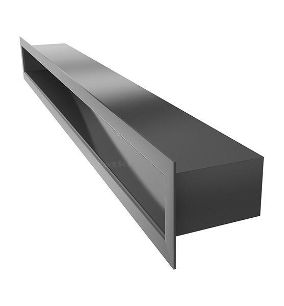 Lüftungsgitter TUNEL schwarz 600 x 60 mm