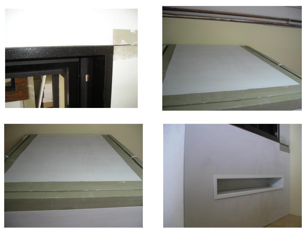 Montage Luftöffnungen und Deckel Haubenbereich HAJDUK Kaminbausatz